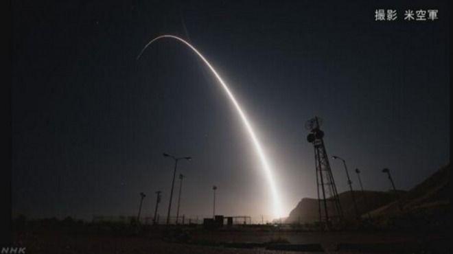 アメリカ軍がICBM(大陸間弾道ミサイル)の発射実験!北朝鮮を威圧、6700キロ先に落下!