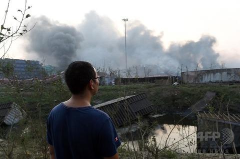 天津爆発22