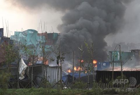 天津爆発24