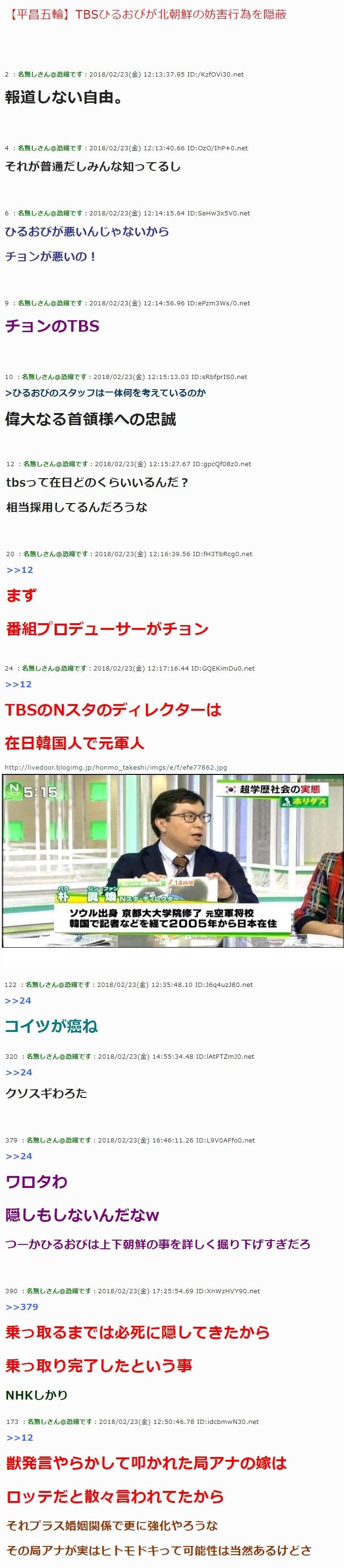 チョンだらけの反日TBS1