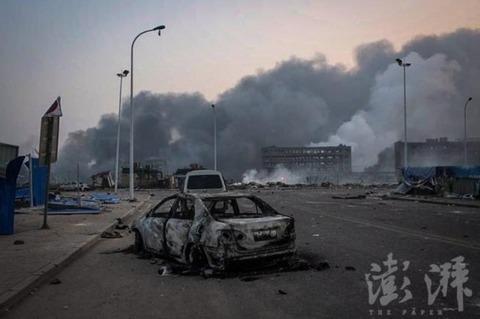 天津爆発25
