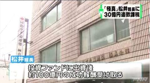 松井章圭30億脱税追徴金4