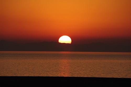20091126荒尾競馬場からの夕陽