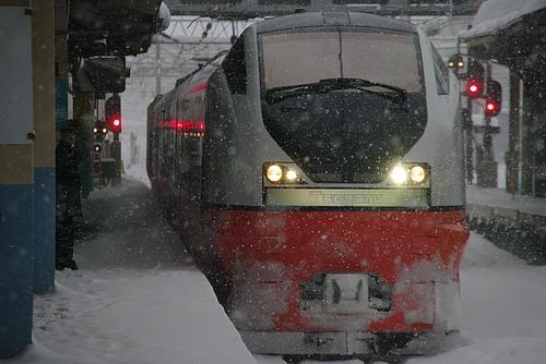 青森駅にて