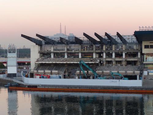 平和島競艇場 スタンド工事中