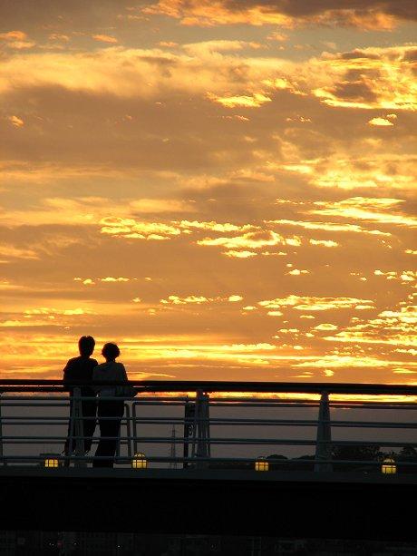 門司港の夕景