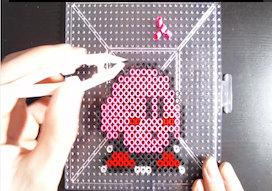☆★カービィのコンセントカバー作ってみた★☆(Perler Beads Kirby for Electrical outlet cover)
