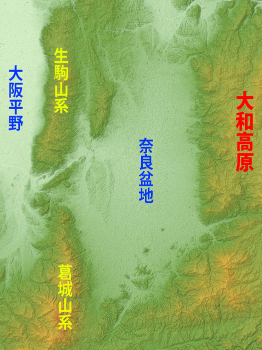 800px-Nara_Basin_Relief_Map,_SRTM-1