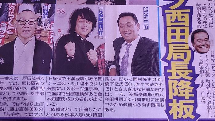 阪神前監督 金本知憲さん、探偵ナイトスクープの局長候補にwww