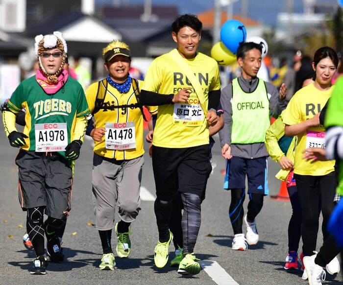 阪神原口文仁選手 ハーフマラソン参加、来季へ捕手勝負を決意