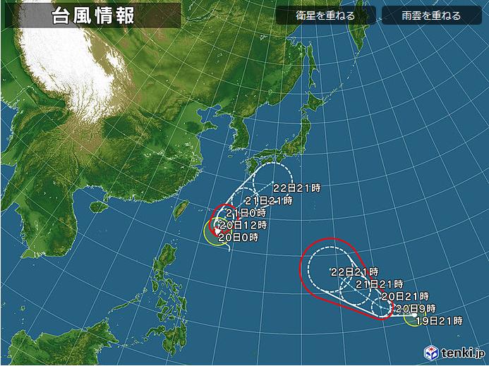 【台風21号】グアム東の熱帯低気圧、24時間以内に台風に発達し日本に接近へ