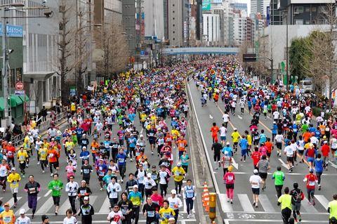 男村田、大松、鳥谷らの東京マラソン