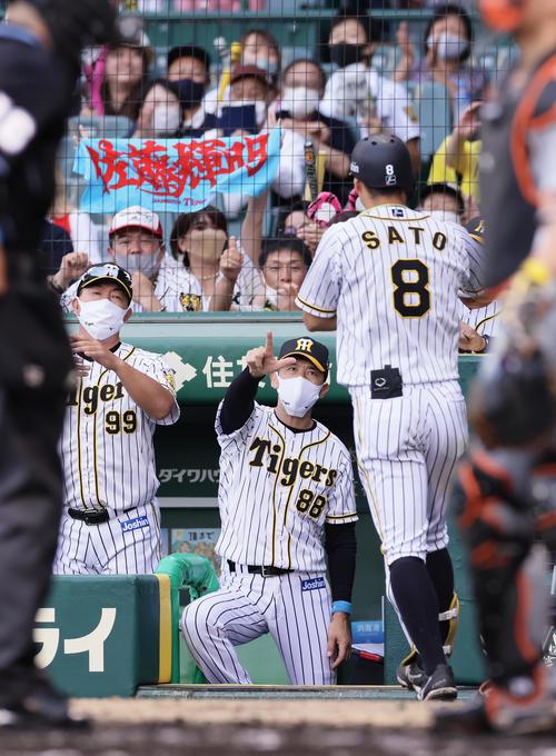 阪神矢野監督、佐藤輝明は「もっともっとレベル上がってほしい」