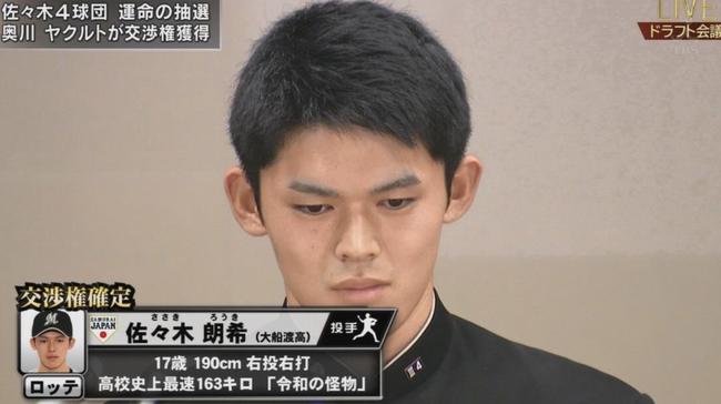 【悲報】佐々木郎希さん、去年の根尾でさえこの時期はめっちゃ記事になったのに報道が全く無い