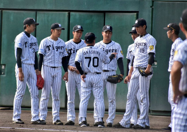 【朗報】阪神投手陣、全員デカイ