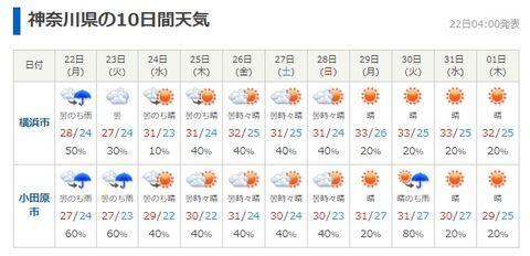 関東 10 日間 天気