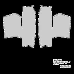 膝丈コート型紙
