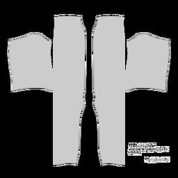 立襟ロングコート型紙