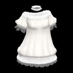 is白ふわドレス
