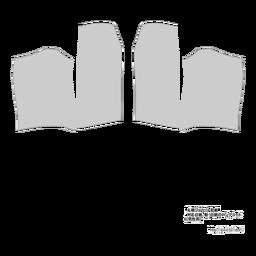 丸襟ジャケット型紙