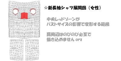 展開図メモ>女子トップス