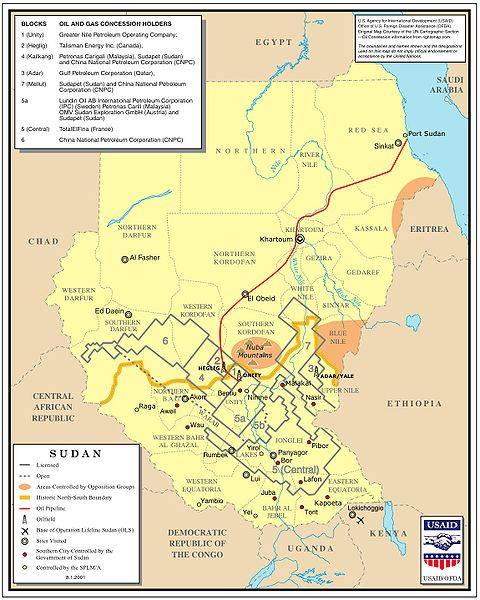 SudanOil&GasConcessionsMap
