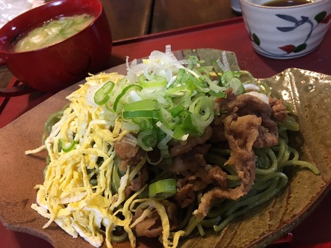 A traditional noodle with Japanese roof!!