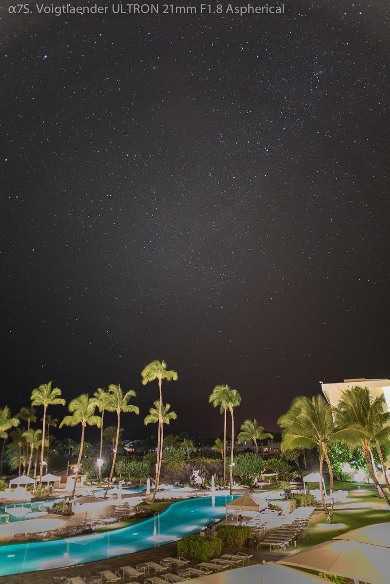 ハワイ島の星空