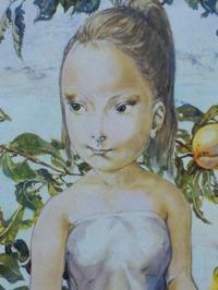 藤田嗣治 「少女と果物」 1963