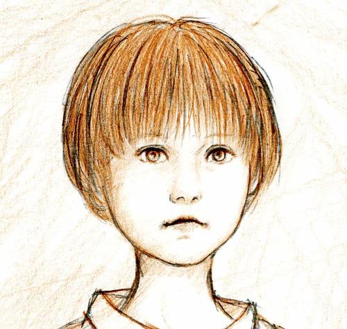 少年と本 (スケッチ) 5.25 Torubido
