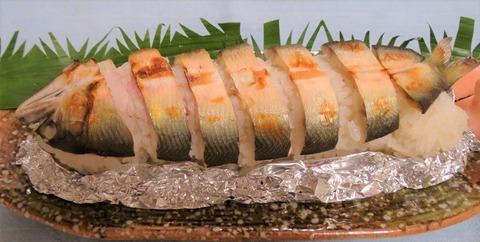 物部川の焼鮎寿司