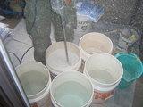 珪藻土の攪拌