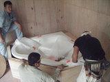 浴槽仮設置