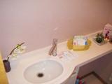 手洗いカウンターの水栓も取り替えました。