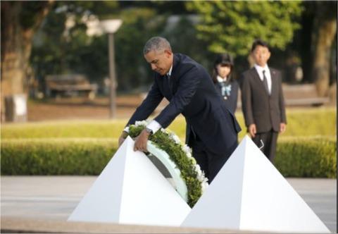 オバマ大統領献花