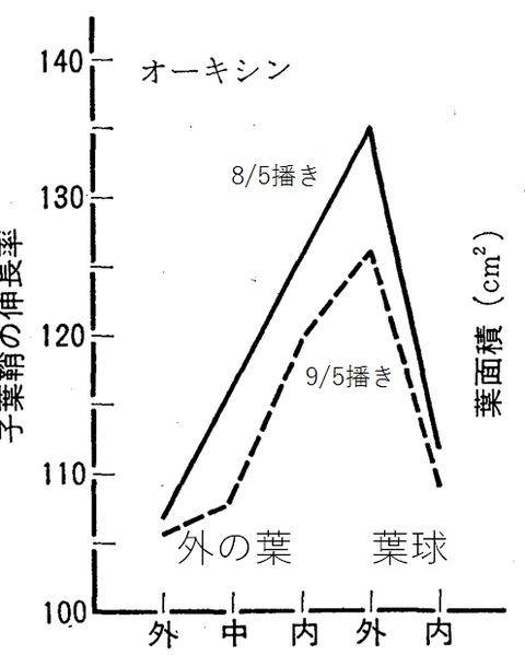 葉っぱの伸長率の分布