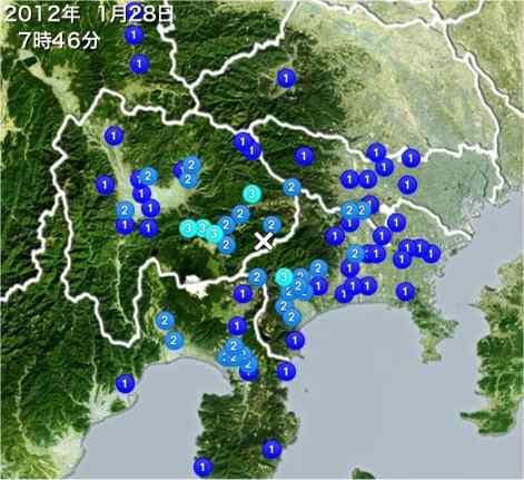 富士五湖の地震