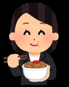 syokuji_gyudon_businesswoman