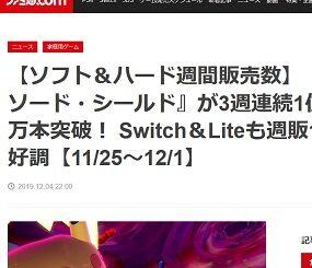 【ソフト&ハード週間販売数】