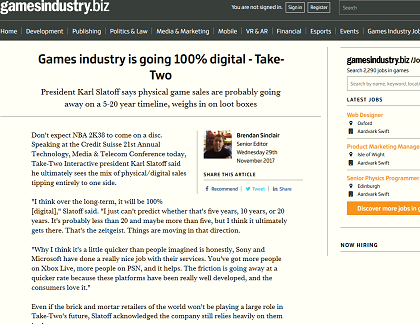 Games industry is going