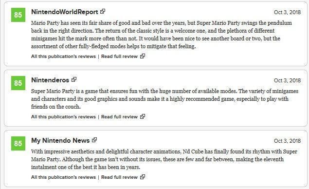 Super Mario Party Critic