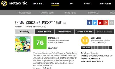 Animal Crossing- Pocket Camp