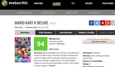 Mario Kart 8 Deluxe for Switch Reviews - Metacritic