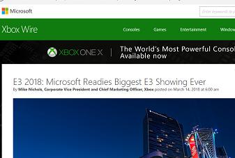 E3 2018- Microsoft Readies