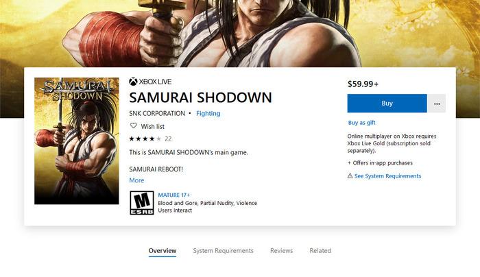 Buy SAMURAI SHODOWN - Microsoft Store - 190627-215235