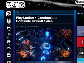 Ubisoft PS4 Sales
