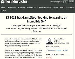 E3 2018 has GameStop