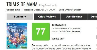 Trials of Mana for PlayStation