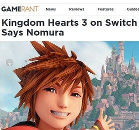Kingdom Hearts 3 on Switch