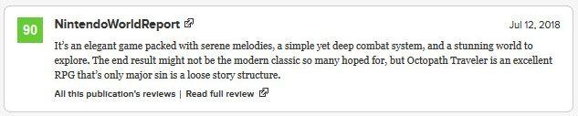 Octopath Traveler Critic Reviews